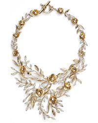 Marchesa | 'drama Flower Leaf' Necklace | Lyst