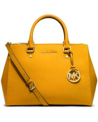 Michael Kors Sutton Medium Saffiano Leather Satchel - Lyst