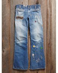 Free People Vintage Patchwork Jeans - Lyst