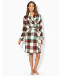 Lauren by Ralph Lauren Short Shawl-collar Robe - Lyst