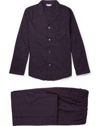 Derek Rose Polka-Dot Cotton Pyjama Set - Lyst