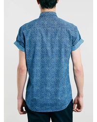 Topman Selected Homme Print Shirt - Lyst