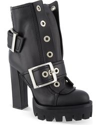 Alexander McQueen Mcq 39s Leather Boots Black - Lyst