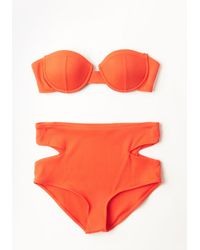 Beach Riot Little By Sizzle Swimsuit Bottom red - Lyst