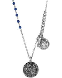 Lucky Brand - Gifting Necklaces Lapis Bead Locket Necklace - Lyst