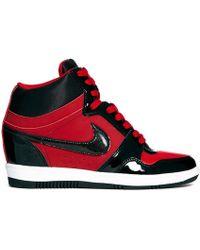 Nike - Force Sky Hi Gym Red/Black - Lyst