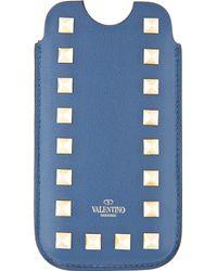 Valentino Indigo Studded Iphone 5 Case - Lyst