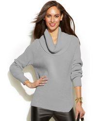 Michael Kors Michael Petite Chunky Knit Cowlneck Sweater - Lyst