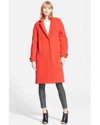 Burberry Brit 'Marstead' Long Wool Blend Coat - Lyst