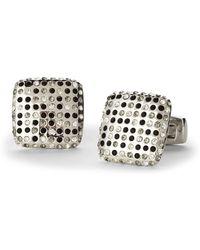 Duchamp | Silver-Tone Textured Square Cuff Links | Lyst