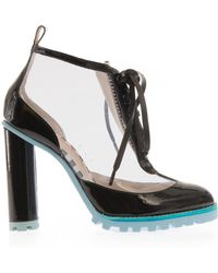 Sophia Webster Katy Pvc And Leather Sock Boots - Lyst