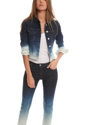 Acne Studios Stace Degrade Denim Jacket - Lyst