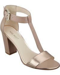 Nine West Brannah T-Strap Sandals. - Lyst