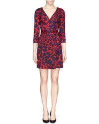 Diane von Furstenberg 'New Julian Two' Cheetah Print Silk-Jersey Wrap Dress - Lyst