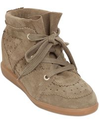 Isabel Marant Etoile 80Mm Bobby Suede Wedge Sneakers - Lyst
