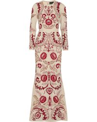 Needle & Thread Tapestry Embellished Crepe Maxi Dress - Lyst