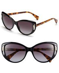 Alexander McQueen 55Mm Cat Eye Sunglasses - Lyst