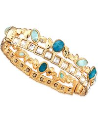 Alexis Bittar Gilded Muse Dore Skinny Stacked Hinge Cuff - Lyst