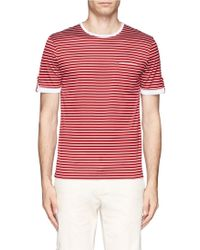 Canali Striped Pocket Tshirt - Lyst