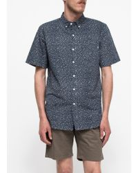 Obey Journey Woven S/S blue - Lyst