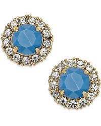 Kate Spade Gold-Tone Stud Earrings - Lyst