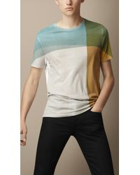 Burberry Abstract Check Graphic Tshirt - Lyst