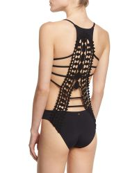 Ále By Alessandra - Modern Nomad Crocheted-back One-piece Swimsuit - Lyst