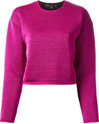 Alexander Wang Cropped Sweatshirt - Lyst