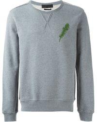 Alexander McQueen Embroidered Feather Sweatshirt - Lyst