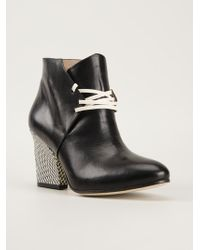 Atalanta Weller | Blush Lace Up Heels Boots | Lyst
