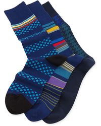 Paul Smith Multi 3pair Sock Set Blue - Lyst