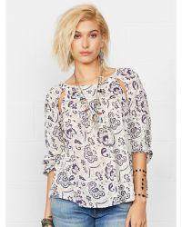 Denim & Supply Ralph Lauren Floral Cotton-blend Top - Lyst