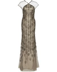 Lela Rose Feather Medallion Embroidered Gown - Lyst