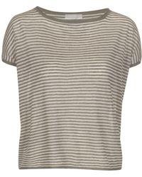 Stefanel Short-Sleeve Linen Sweater - Lyst