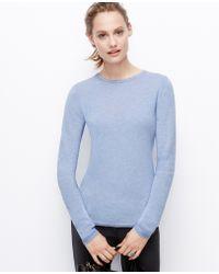 Ann Taylor Blue Cashmere Sweater - Lyst