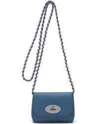 Mulberry Mini Lily blue - Lyst