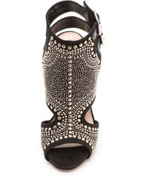 Carvela Kurt Geiger - Gyrate Studded Cutout Sandals Black - Lyst