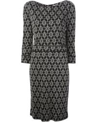 Tory Burch Geometric Print Crepe Dress - Lyst