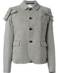 Comme Des Garçons Checked Bow Detail Jacket - Lyst