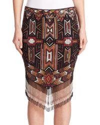 Haute Hippie | Apache Embellished Fringe Skirt | Lyst