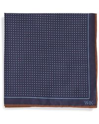W.r.k. - Dot Silk Pocket Square - Lyst