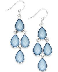 Style & Co. | Silver-tone Ice Blue Teardrop Chandelier Earrings | Lyst