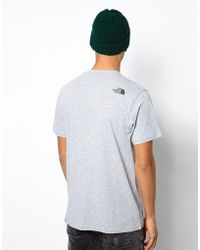 The North Face Tshirt with Chest Logo - Lyst