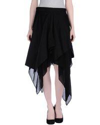 Yohji Yamamoto Mini Skirt - Lyst