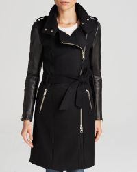 Mackage Dale Belted Wool Trench - Lyst