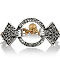 Lulu Frost - Stardust Gold-Tone Crystal Bracelet - Lyst