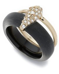 Alexis Bittar - Crystal Movable Band Ring - Black - Lyst