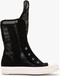 DRKSHDW by Rick Owens - Black Double_mesh Ramones Boots - Lyst
