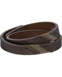 Diesel Brown Ageft Bracelet - Lyst