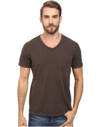 7 For All Mankind Short Sleeve Raw V-Neck - Lyst